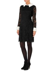 Sienna embellished lace dress