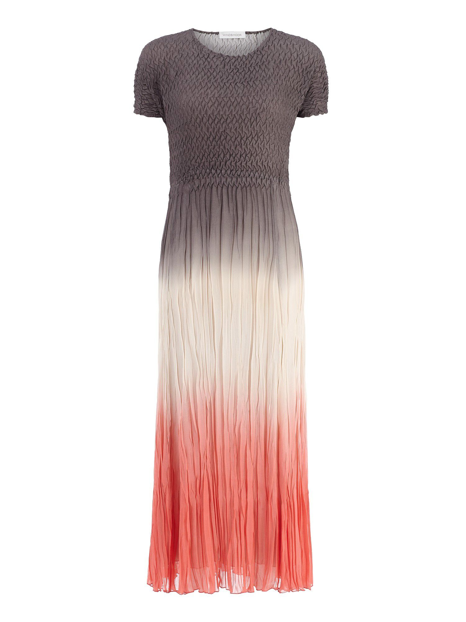 Ombre crinkle dress