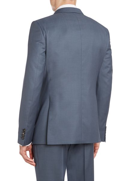 Simon Carter Contrast twill slim fit suit jacket