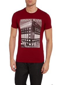 Armani head office print t shirt