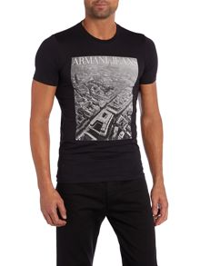 Armani birds eye print t shirt