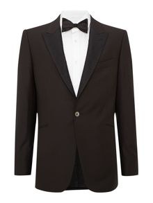 Dinner suit jacket with contrast jacquard lapel