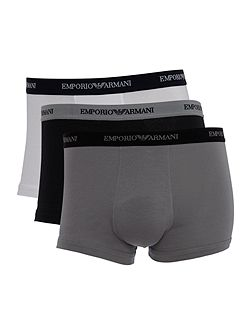 3 pack stretch cotton underwear trunk