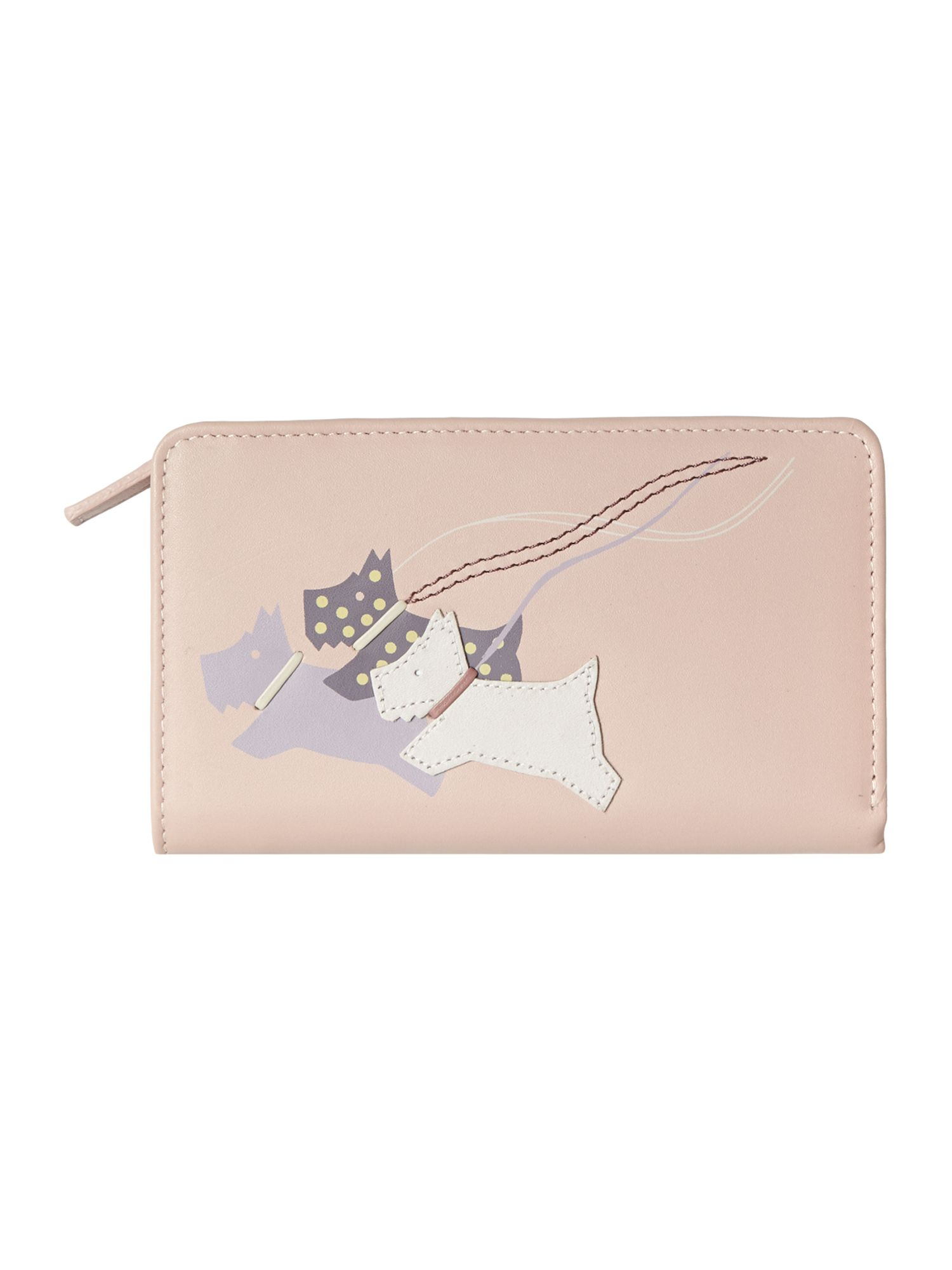 On the run pale pink medium zip around purse