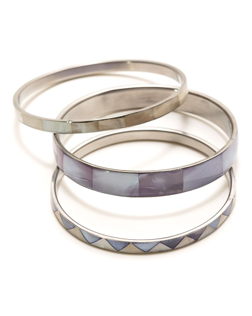 Lavender shell bangle set