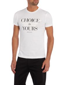 Armani logo words print t shirt