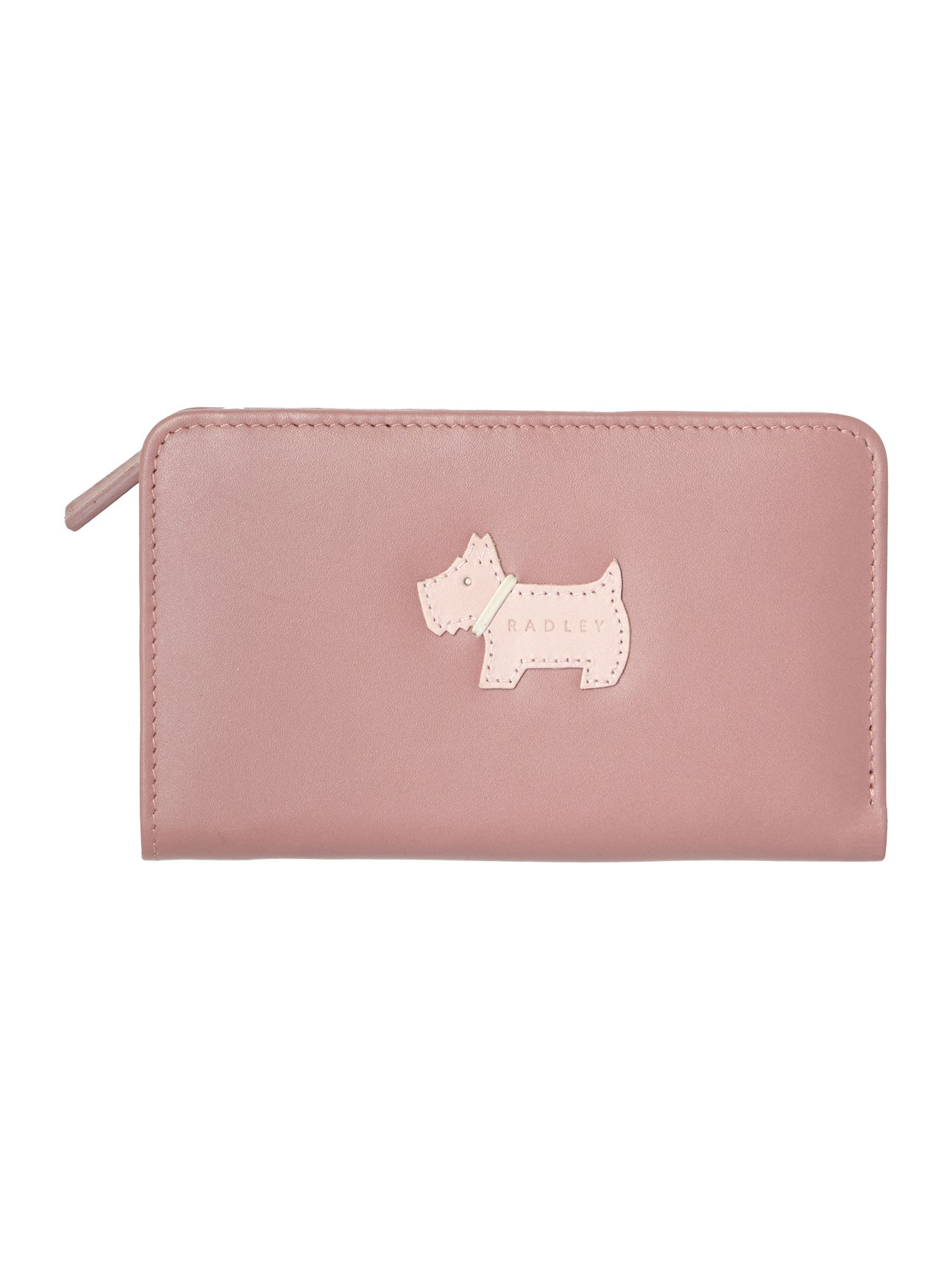Heritage dog pink medium zip around purse