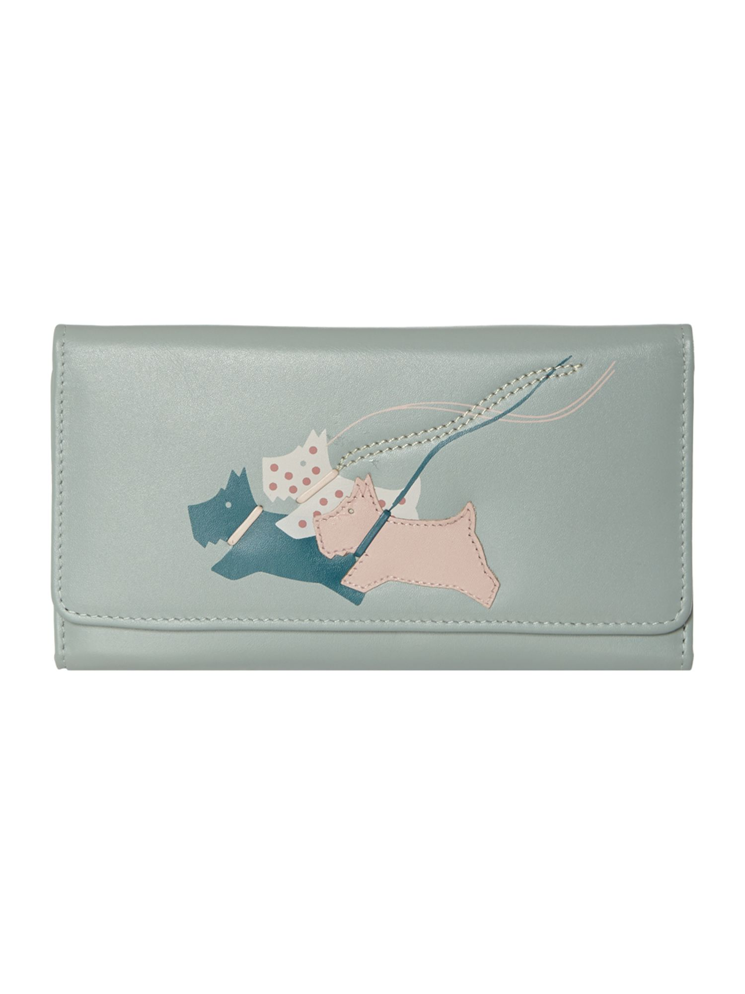 On the run pale blue large trifold matinee purse
