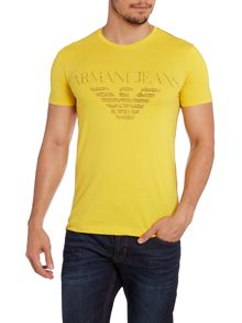 Armani pocket logo print t shirt