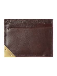 Metal corner card wallet