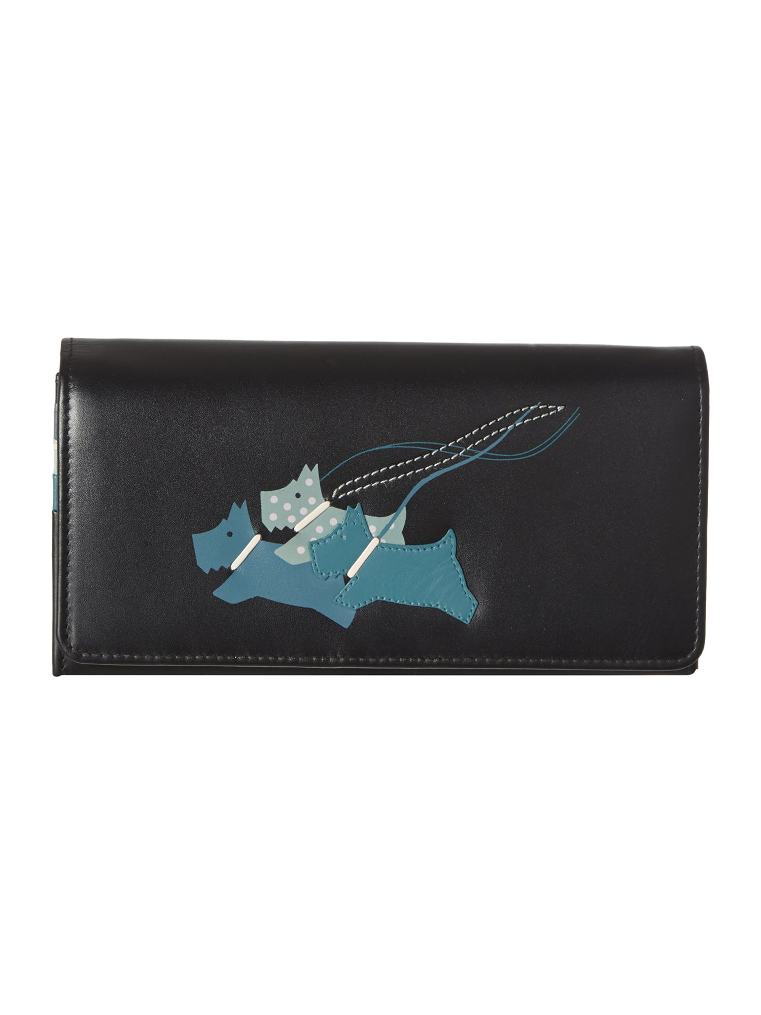 On the run pale black large flapover purse