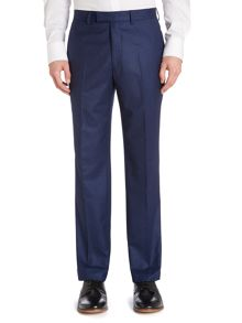 Flannel regular fit suit trouser