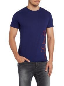Armani side logo print t shirt