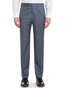Contrast twill slim fit suit trousers