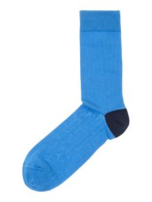 Luxury mercerised rib socks