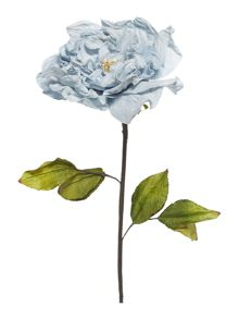 Blue soft rose stem