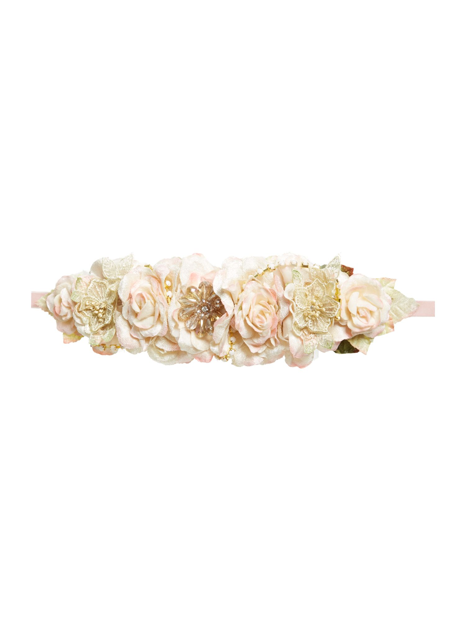 Oversized bridal style floral crown