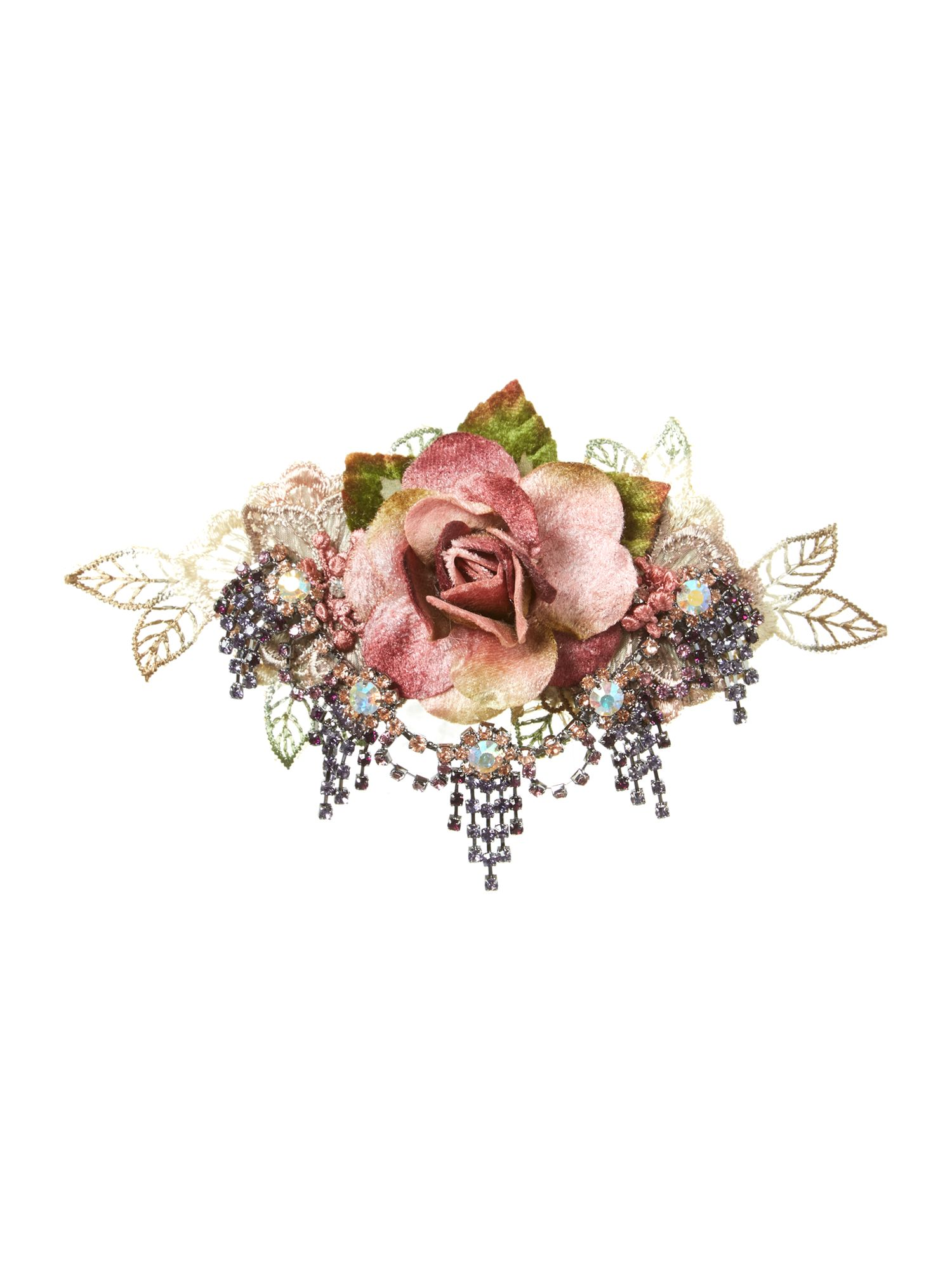 Rose chandelier brooch clip