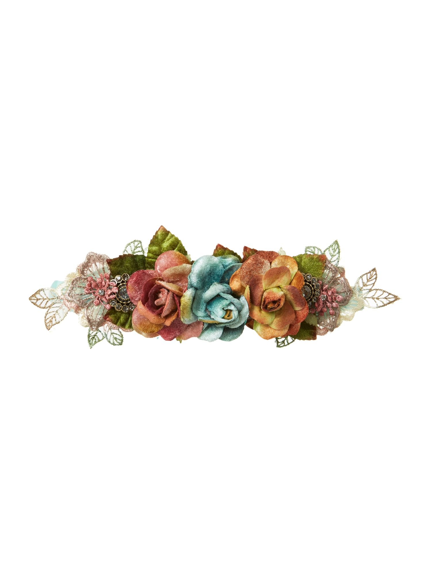 Small floral ribbon tie