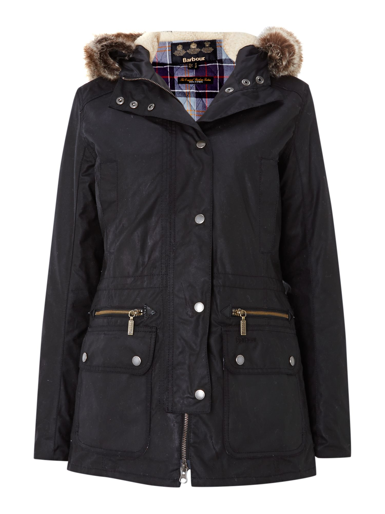 Barbour Kelsall waxed jacket, Black