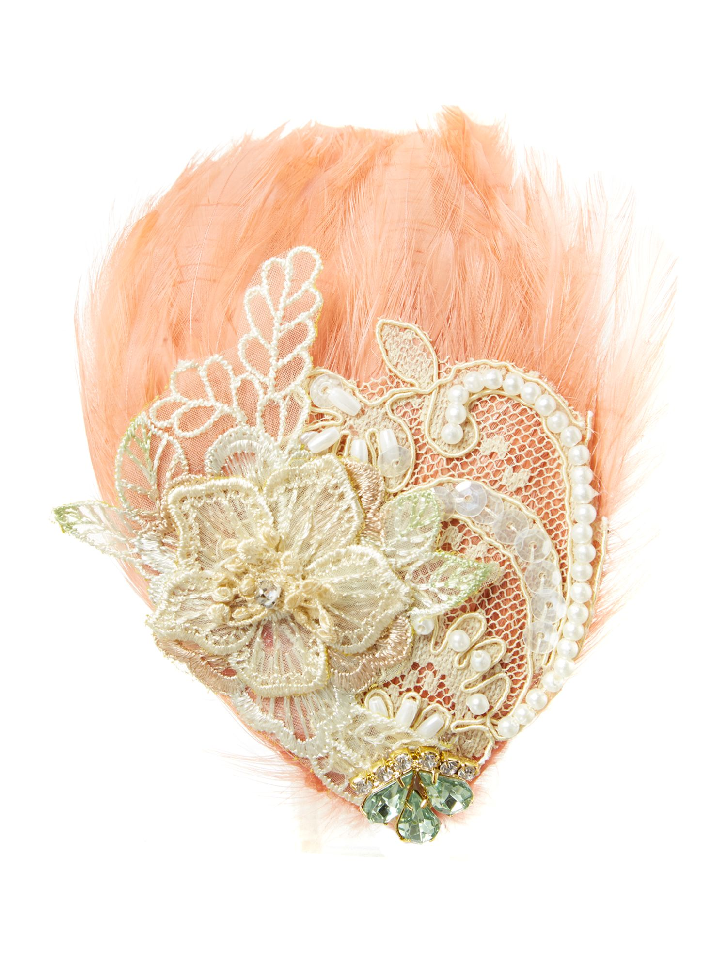 Embellished feather hairband