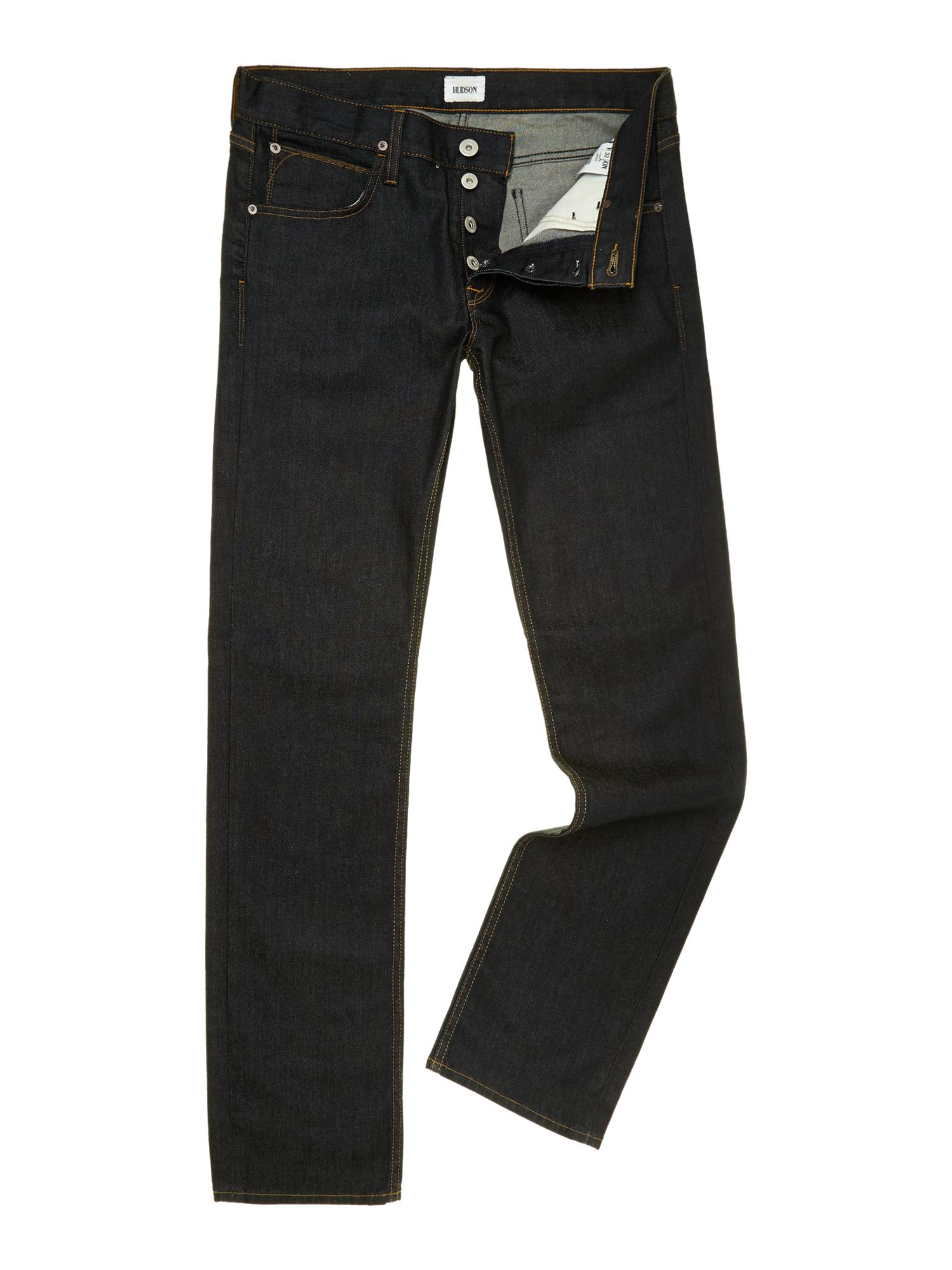 Byron straight leg edges dark wash jeans