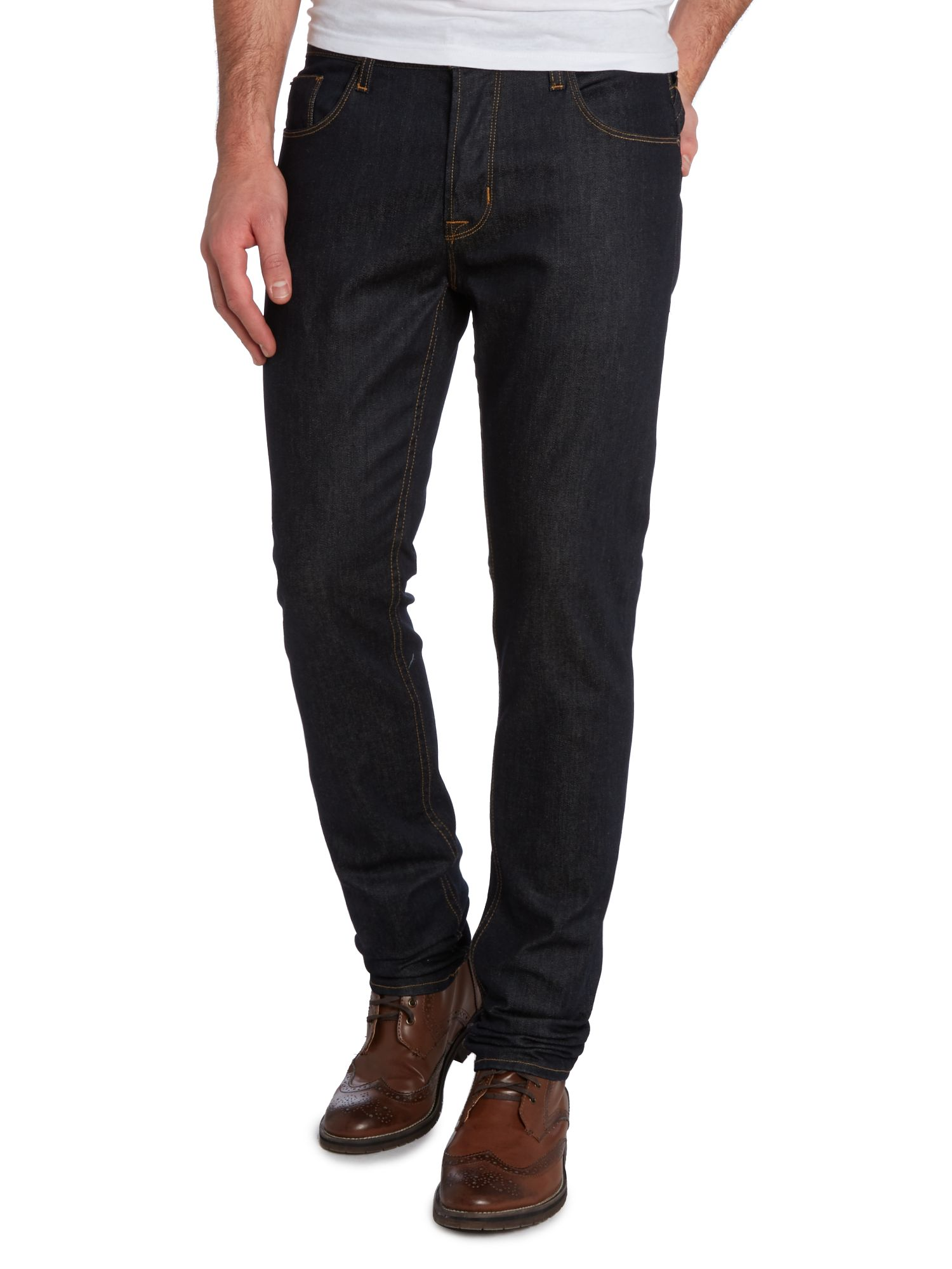 Sartour slim leg edges dark wash jeans