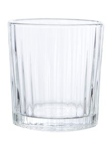 Clear Ribbed Glassware Range