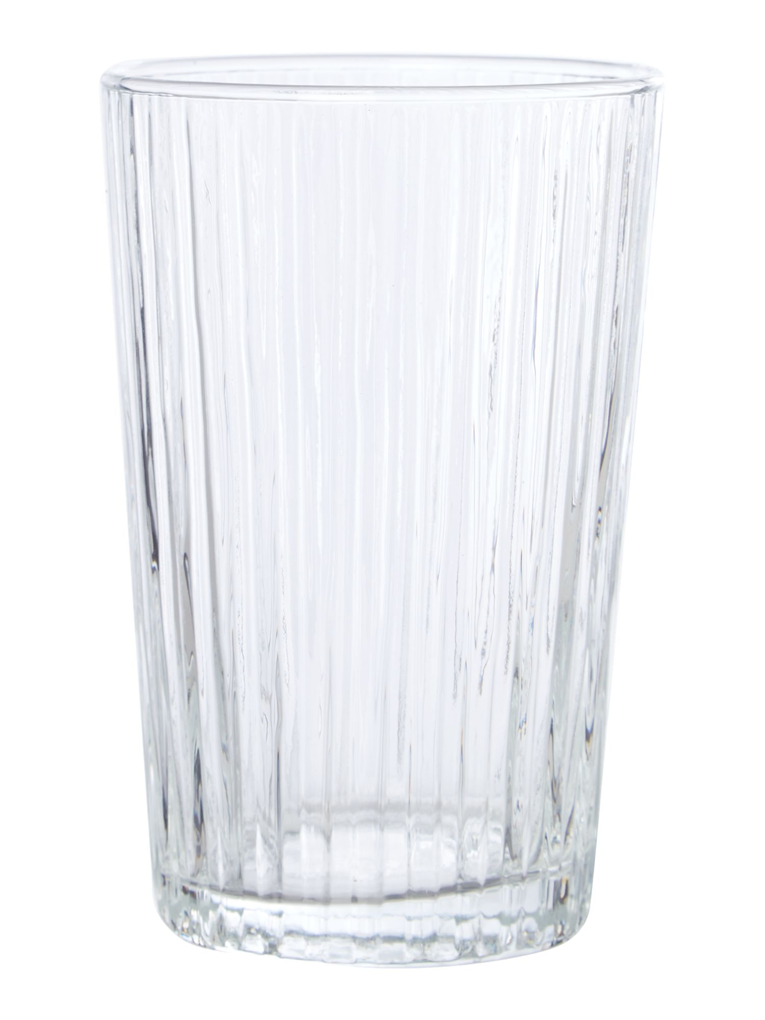 Ribbed clear hiball