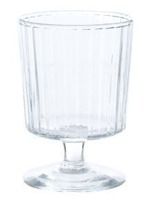 Ribbed clear wine glass