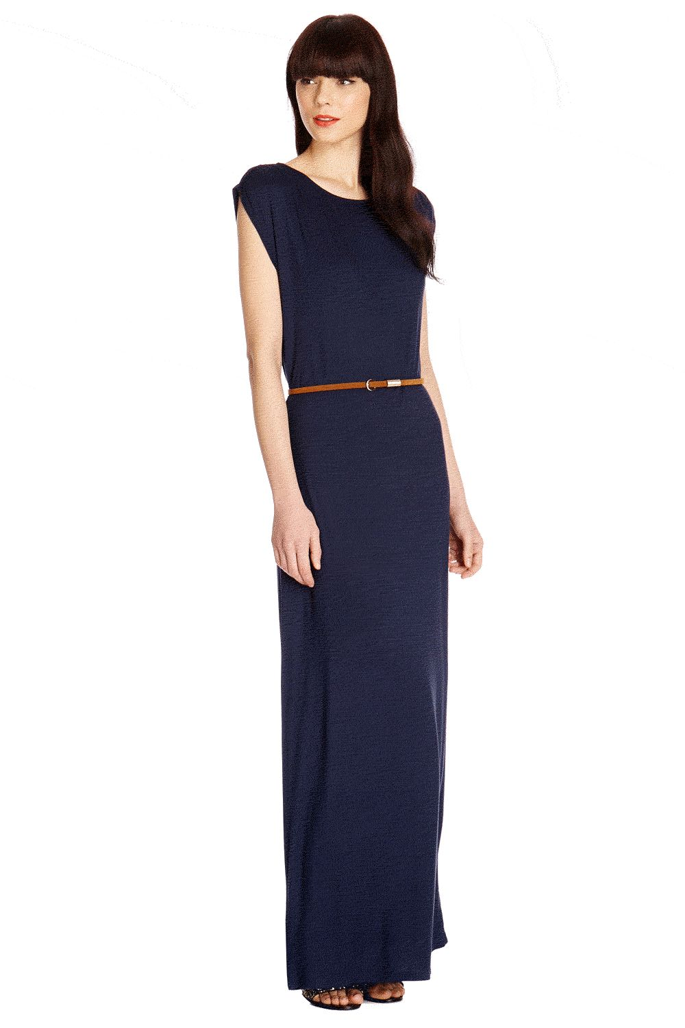 Cowl back maxi dress