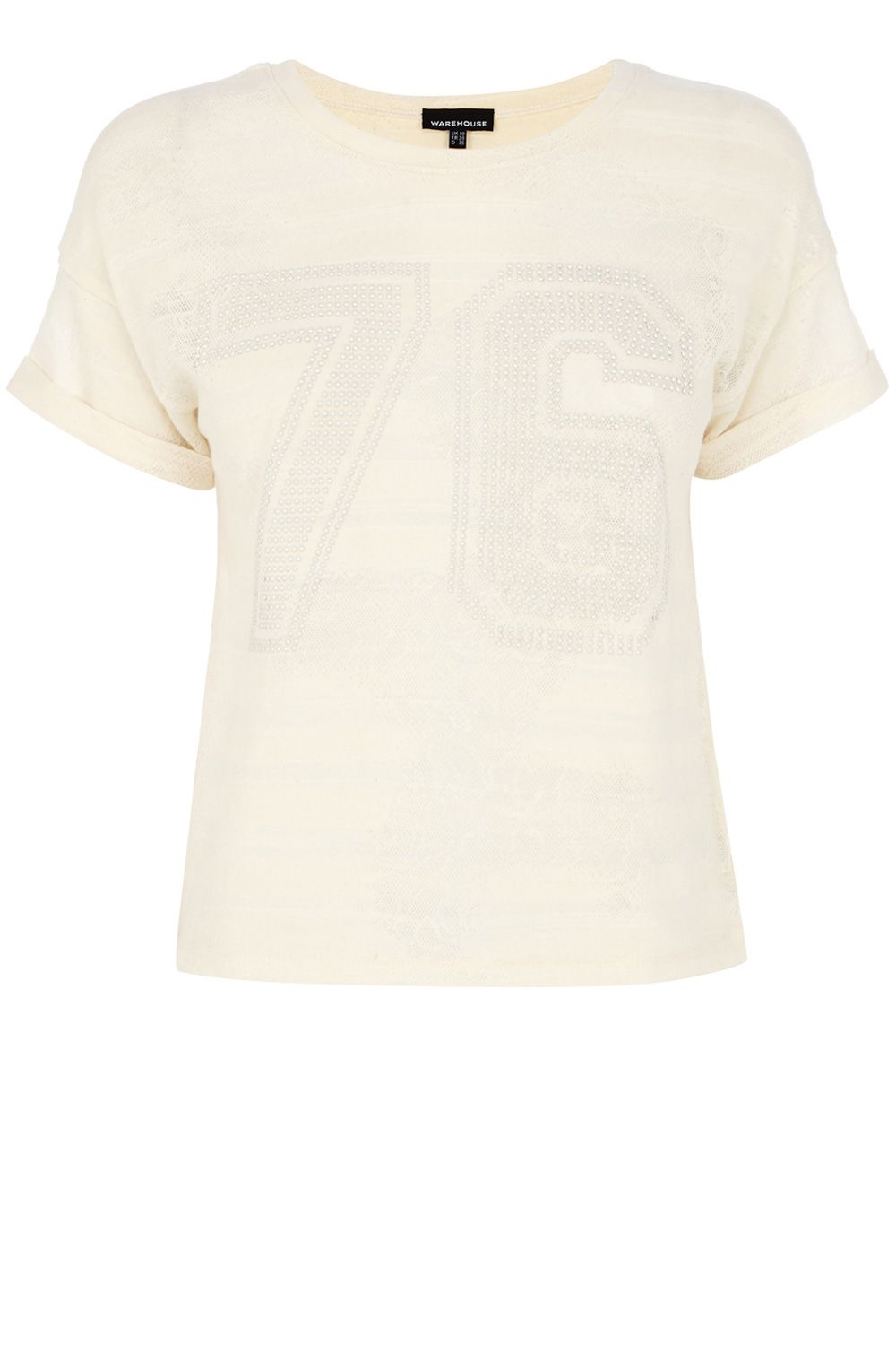 Stud number lace t-shirt