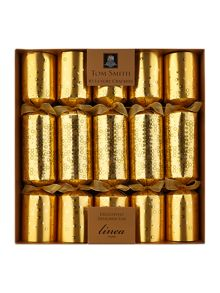 Set of 10 black magic gold dotty crackers