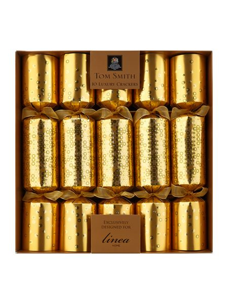Linea Set of 10 black magic gold dotty crackers