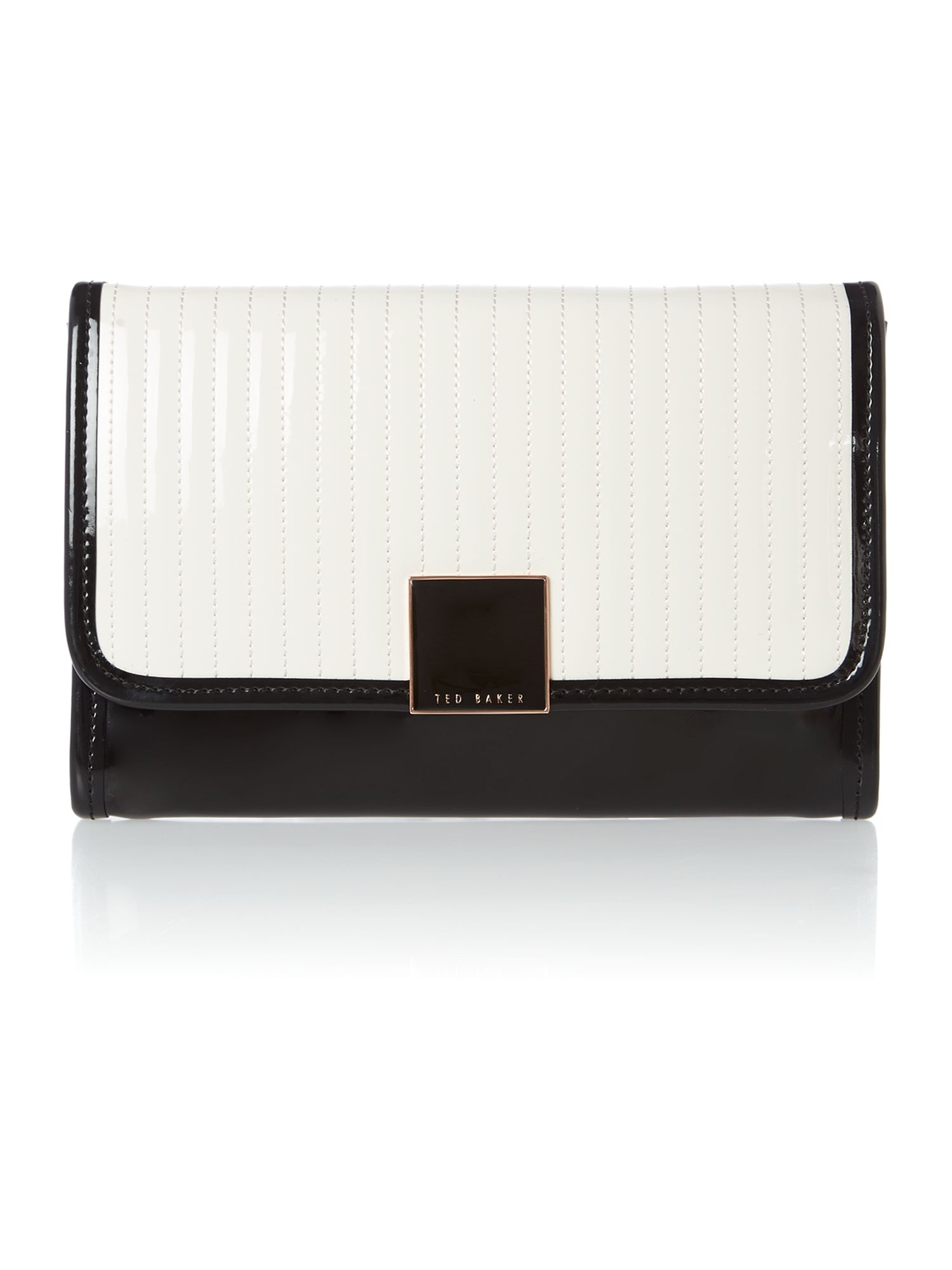 Nude T emboss clutch ipad bag