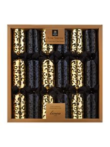 Set of 6 luxury black magic leopard crackers