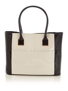 Nude large tote bag