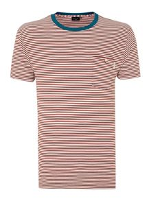 Paul smith contrast neck stripe t shirt