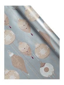 High society bauble wrapping paper
