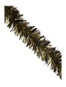 Thick black and gold tinsel