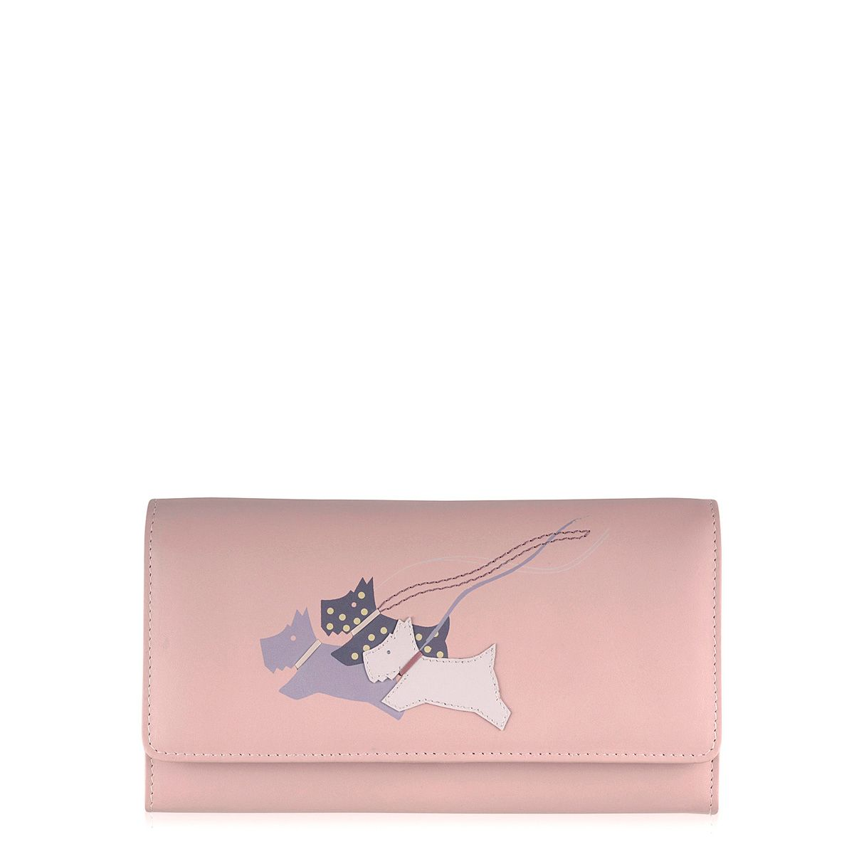 On the run pale pale pink large flapover purse