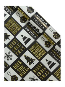 Black Magic novelty wrapping paper