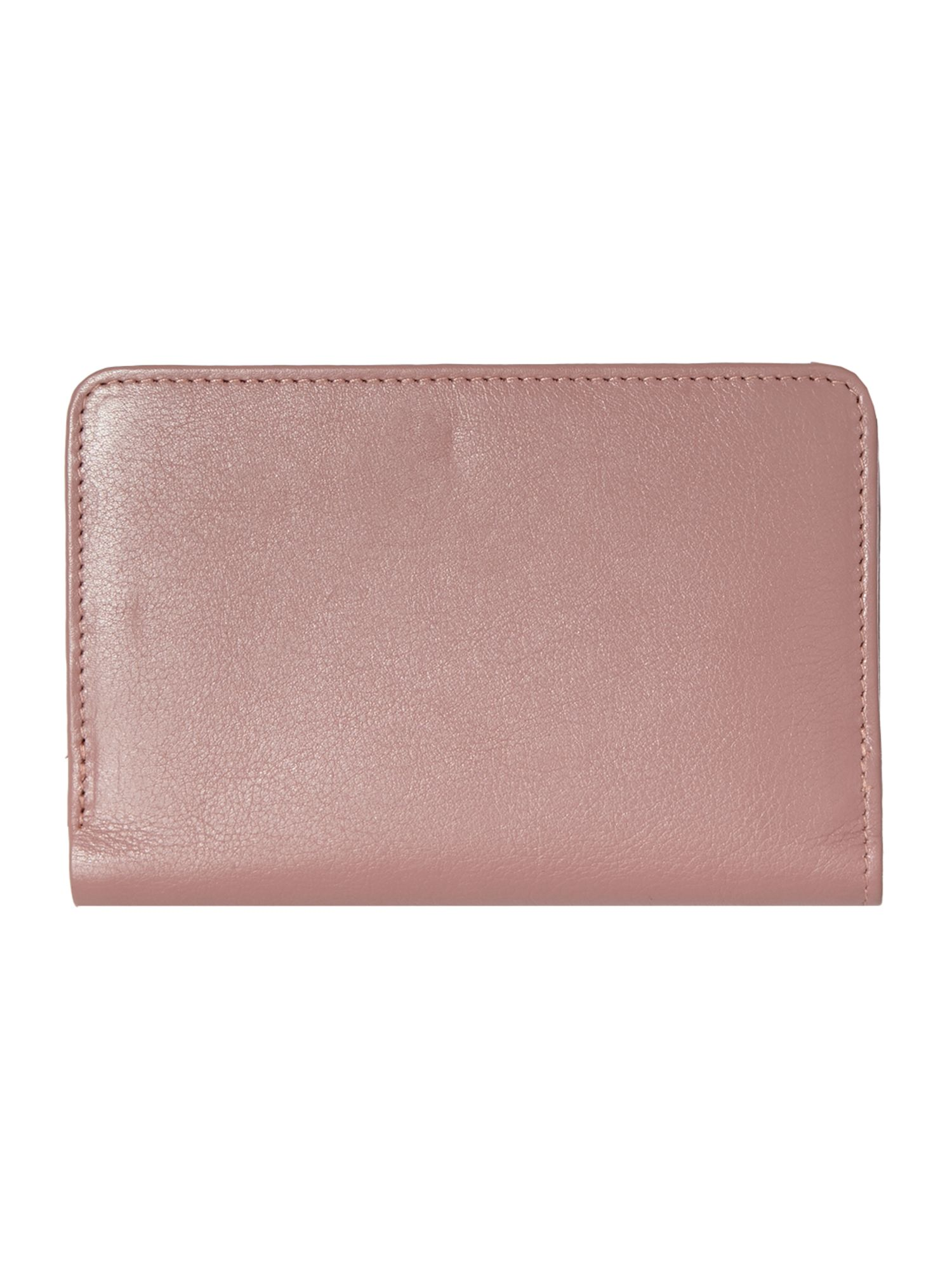 Pocket pink medium zip purse
