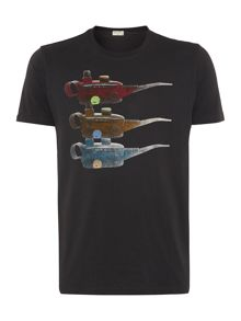 Paul smith oil cans print t shirt
