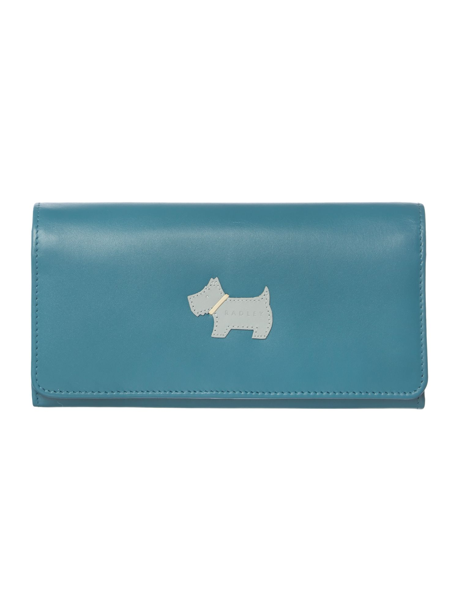 Heritage dog blue large flapover matinee purse