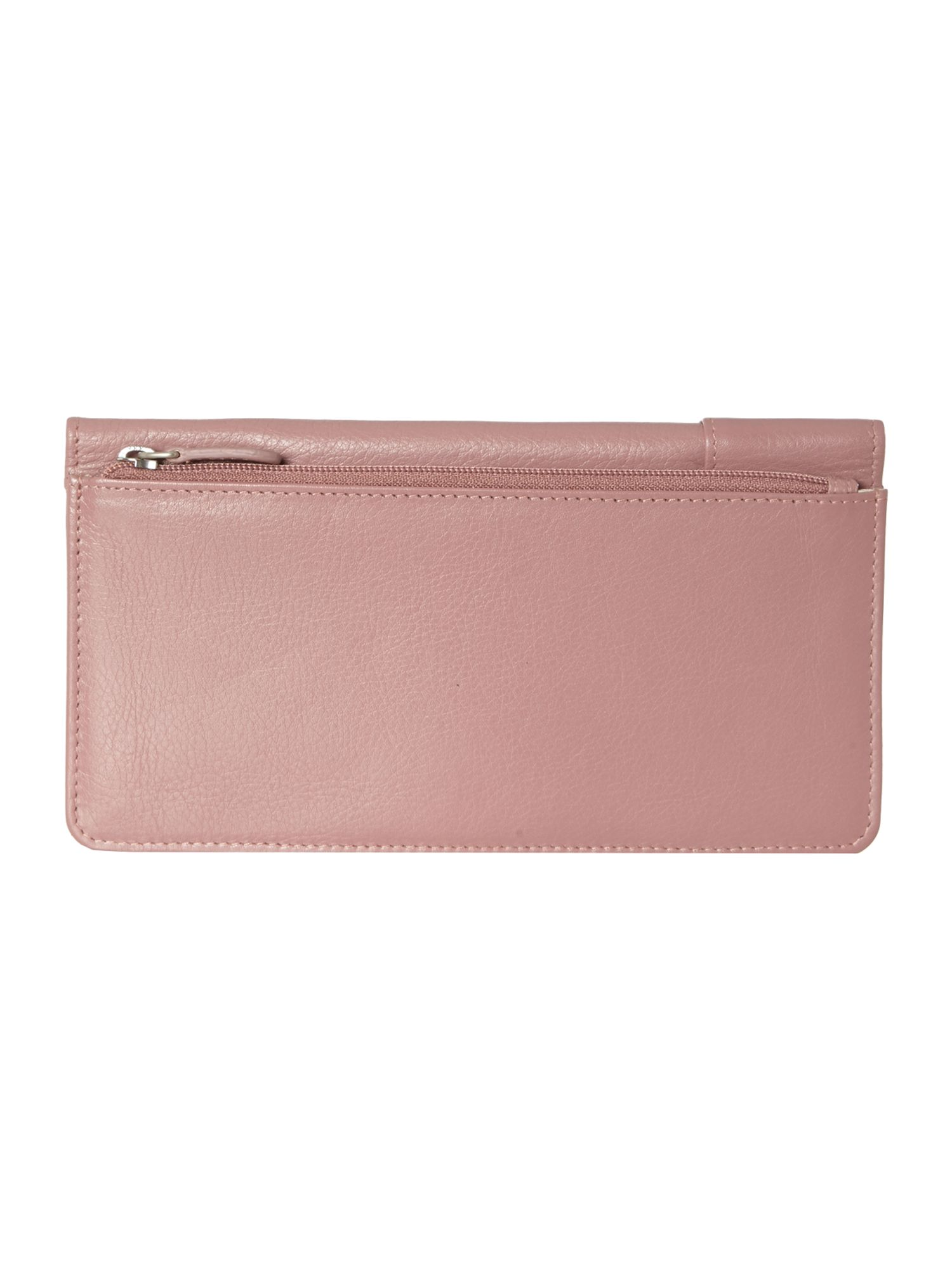 Pocket pink large flapover purse