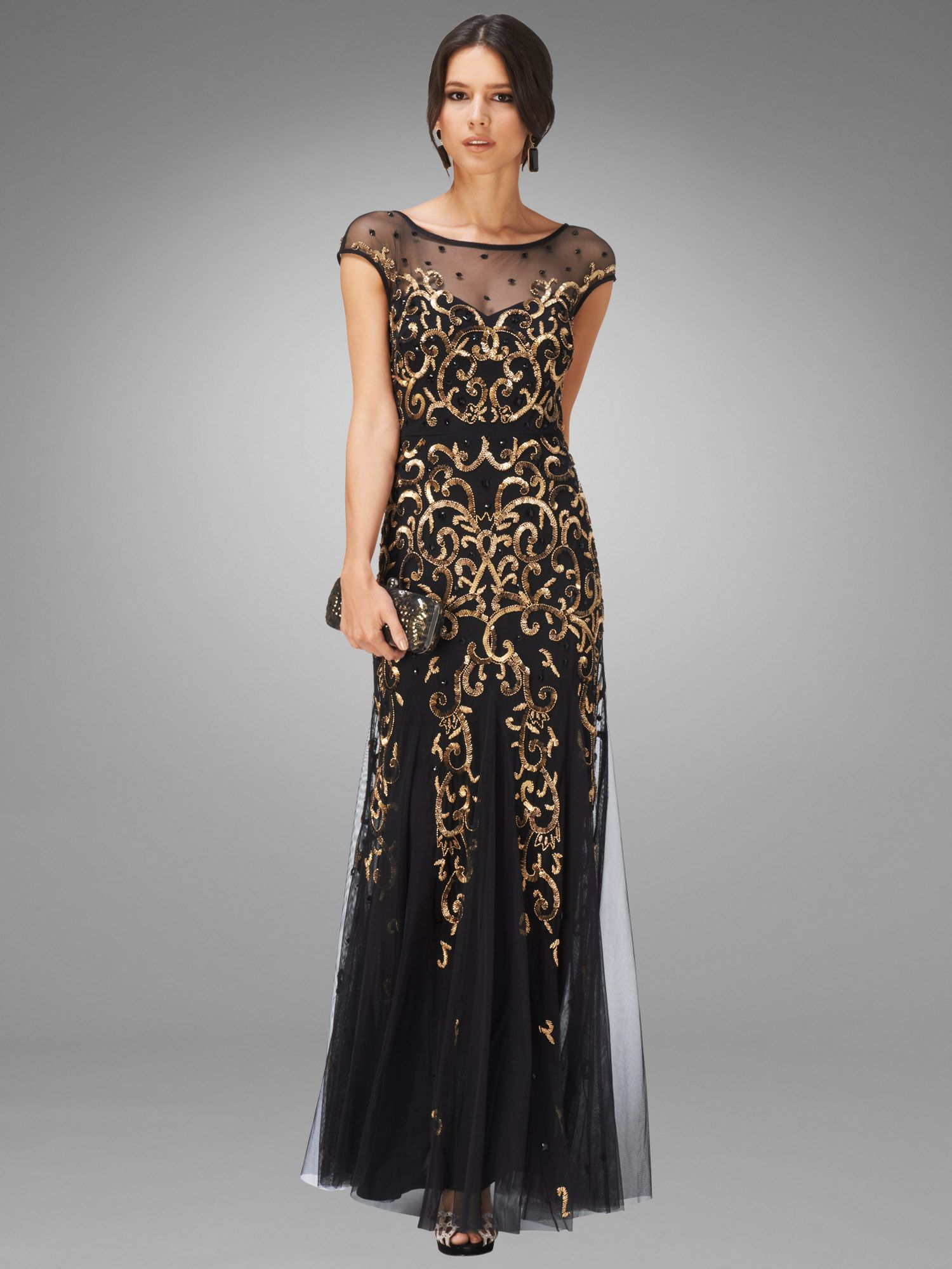 Nina embellished full length dress