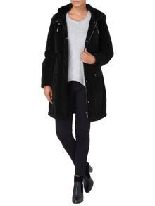 Verity velvet parka coat