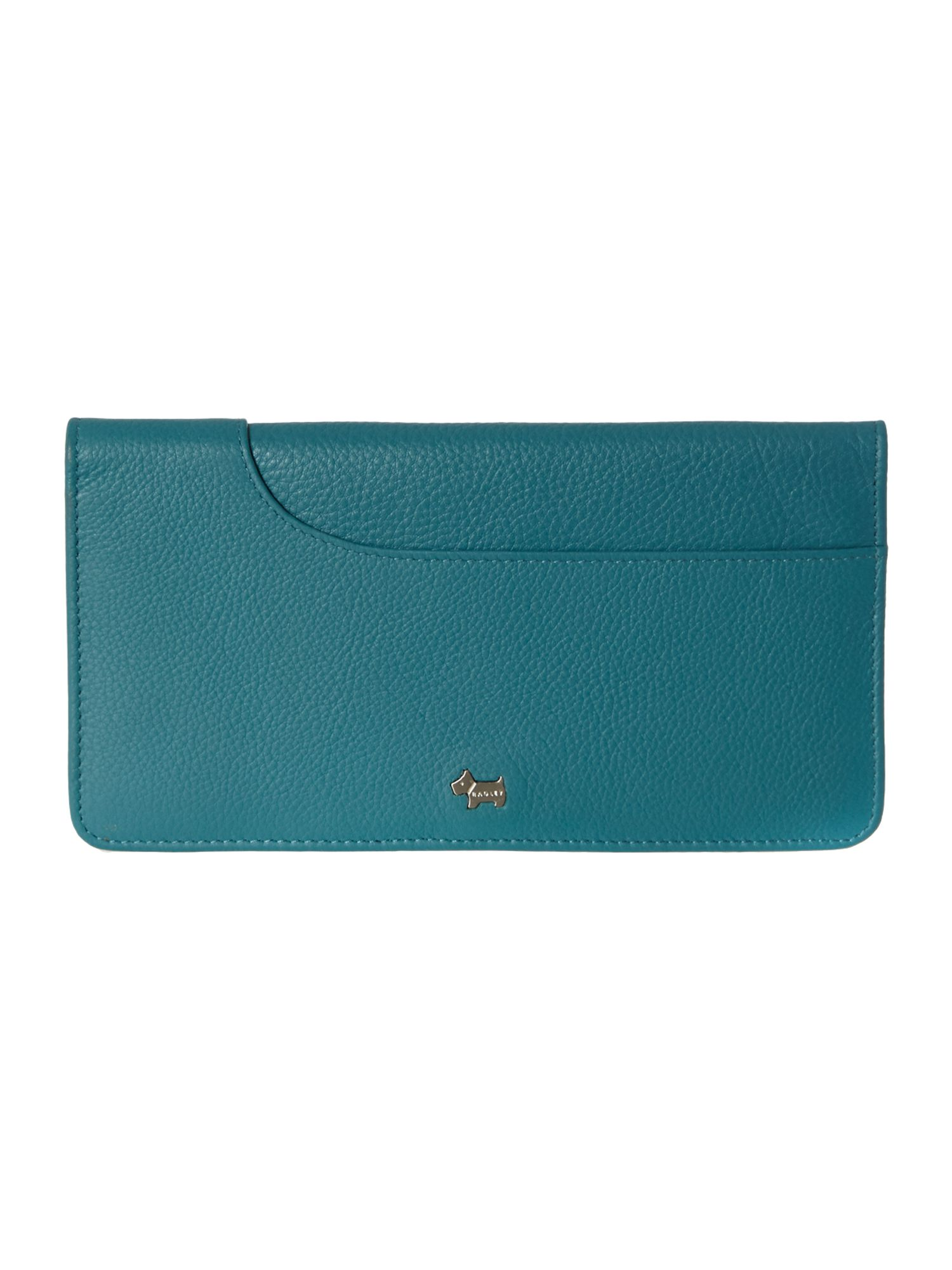 Pocket blue large flapover purse