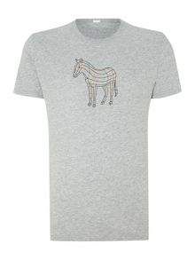 Paul smith zebra print t shirt